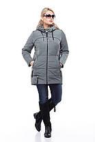 Теплая женская куртка демисезонная, по типу парка, размер 48-58, красный, серый, белый, синий, фото 3