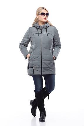 Весенне-осенняя куртка большого размера утепленная украинский производитель, фото 2