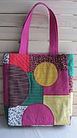 Сумка. Текстильная сумка-шоппер в стиле пэчворк.