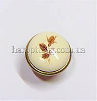 Ручка кнопка с фарфоровой вставкой DG 192 G4 MLK