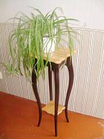 """Подставка для цветов """"Азалия"""" (двухцветная). Массив - ольха, дуб."""
