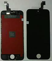 Дисплей iPhone 5S iPhone SEс cенсором чёрный Black (качественная копия)