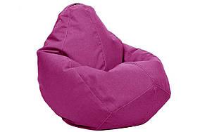 Малиновое кресло мешок груша 100*75 см из микро рогожки