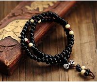 Чётки религиозные из сандалового дерева. Чётки 6 мм ( 117 бусин), четки - браслет из дерева.