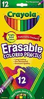 Набор карандашей Crayola 12 шт с резинкой для стирания