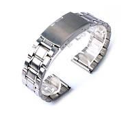 Браслет для часов серебро 22 мм