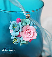 "Кулон с цветами ""Цветной мармелад""., фото 1"