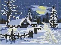 """Схема для вышивки бисером """"Зима""""."""