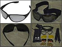 """Армейские защитные очки-маска """"Attack"""" (4 сменных линзы)."""