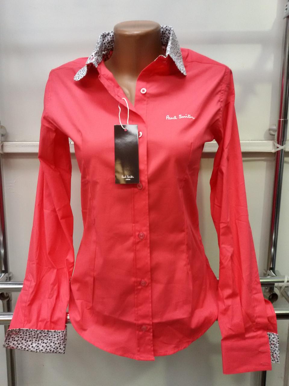 6ba18c62474 Красивая женская рубашка (реплика) Paul smith розового цвета -  Интернет-магазин женской одежды