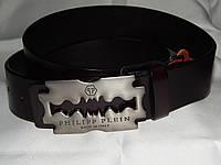 Ремень мужской кожаный PHILIPP PLEIN, коричневый 40 мм 930480