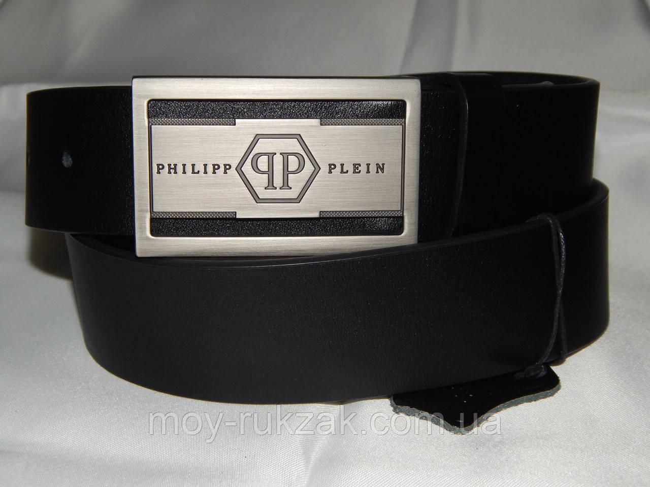 Ремень мужской кожаный PHILIPP PLEIN 40 мм, реплика 930485