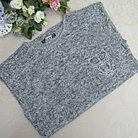 Свитер женский из мягкого вязаного полотна, 42-50 р/р, cotton 100% , Турция. Женские кофточки, свитера, кофты , фото 1
