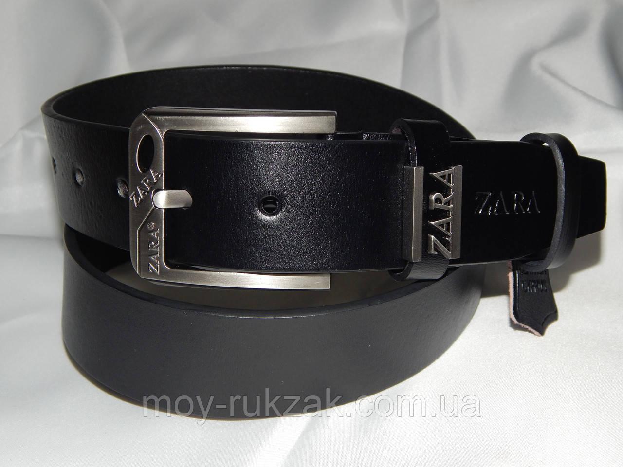Ремень мужской кожаный ZARA 40 мм, реплика 930501