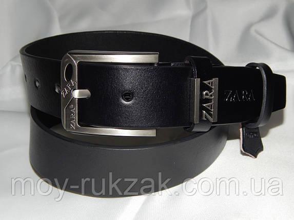Ремень мужской кожаный ZARA 40 мм, реплика 930501, фото 2