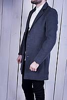 Пальто мужское серое кашемировое супер качество