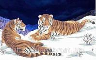 """Схема для вишивки бісером """"Тигри""""."""