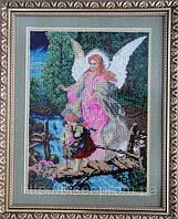 """Картина вышитая бисером """"Ангел хранитель"""""""