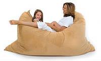 Велюровое кресло мешок подушка бежевое 140*180 см, кресло мат