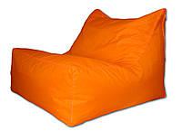 Оранжевое бескаркасное кресло лежак из ткани Оксфорд
