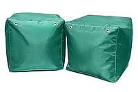 Зеленый пуфик кубик 35*35*35 см из ткани Оксфорд, фото 1
