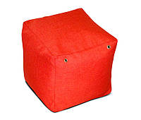 Пуфик кубик 35*35*35 см красный из микро рогожки