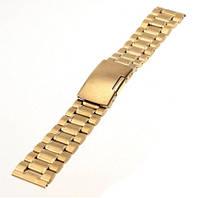 Браслет для часов золото 22 мм