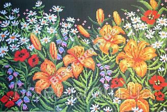"""Схема для вышивки бисером """"Ночные лилии""""."""