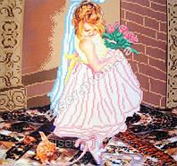 """Схема для вышивки бисером """"Маленькая невеста"""