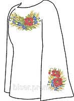 Заготовка женской вышиванки бисером на льне СВЖБ-6