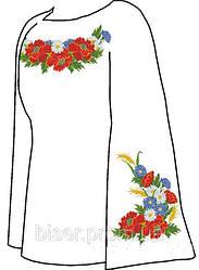Заготовка вышиванки бисером Женская сорочка