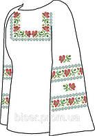 Заготовка женской вышиванки бисером на льне СВЖБ-12