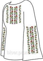 Заготовка женской вышиванки бисером на льне СВЖБ-13