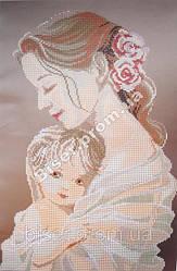 """Схема для вышивки бисером """"Мать и дитя""""."""