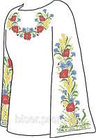 Заготовка женской вышиванки бисером на льне СВЖБ-18