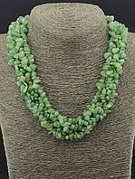 Бусы Нефрит 45 см. женские украшения из натурального камня № 035097