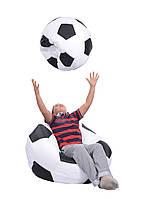 Кресло мяч 80 см из ткани Оксфорд черно белое, кресло мешок мяч