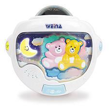 Ночной светильник «Weina» (2129) Двойняшки Тедди с проектором (звук. эффекты)