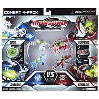 Набор для битвы на 4 игрока Monsuno Core-Tech S.T.O.R.M Charger, Arachnablade , Airchopper