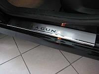 Накладки на пороги Renault Laguna