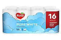 Туалетная бумага Ruta Pure белая 16 шт.