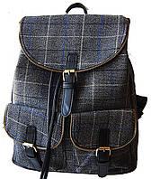 Рюкзак в клетку. Женская сумка - портфель. Стильная сумка. Оригинальный рюкзак