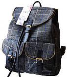 Рюкзак в клетку. Женская сумка - портфель. Стильная сумка. Оригинальный рюкзак, фото 2