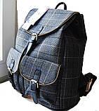 Рюкзак в клетку. Женская сумка - портфель. Стильная сумка. Оригинальный рюкзак, фото 3