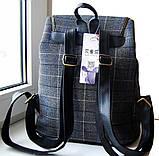 Рюкзак в клетку. Женская сумка - портфель. Стильная сумка. Оригинальный рюкзак, фото 5