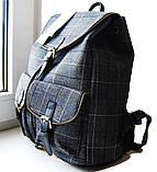 Рюкзак в клетку. Женская сумка - портфель. Стильная сумка. Оригинальный рюкзак, фото 6