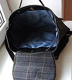Рюкзак в клетку. Женская сумка - портфель. Стильная сумка. Оригинальный рюкзак, фото 7