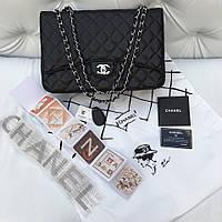 Сумка Chanel Jumbo макси натуральная кожа икра черная