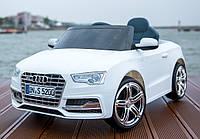 Детский электромобиль Audi S5  WHITE с пультом управления