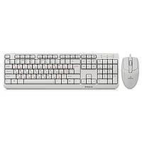 Комплект REAL-EL Standard 505 Kit (клавиатура+мышь) White, USB